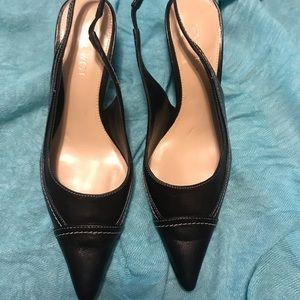 Nine West sling back heel.